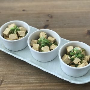 Ginger Tofu with Green Onions