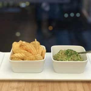 Avocado Tuna Tartare Served with Potato Chips