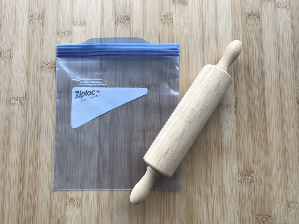 Ziploc and Rolling Pin