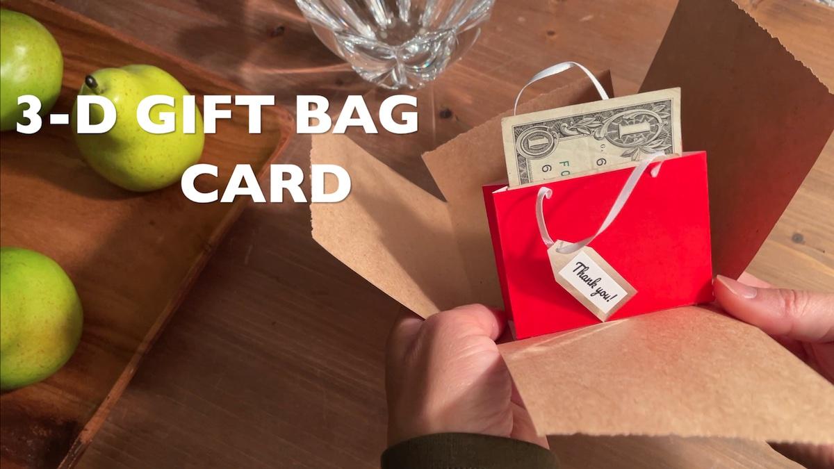 3-D Gift Bag Card