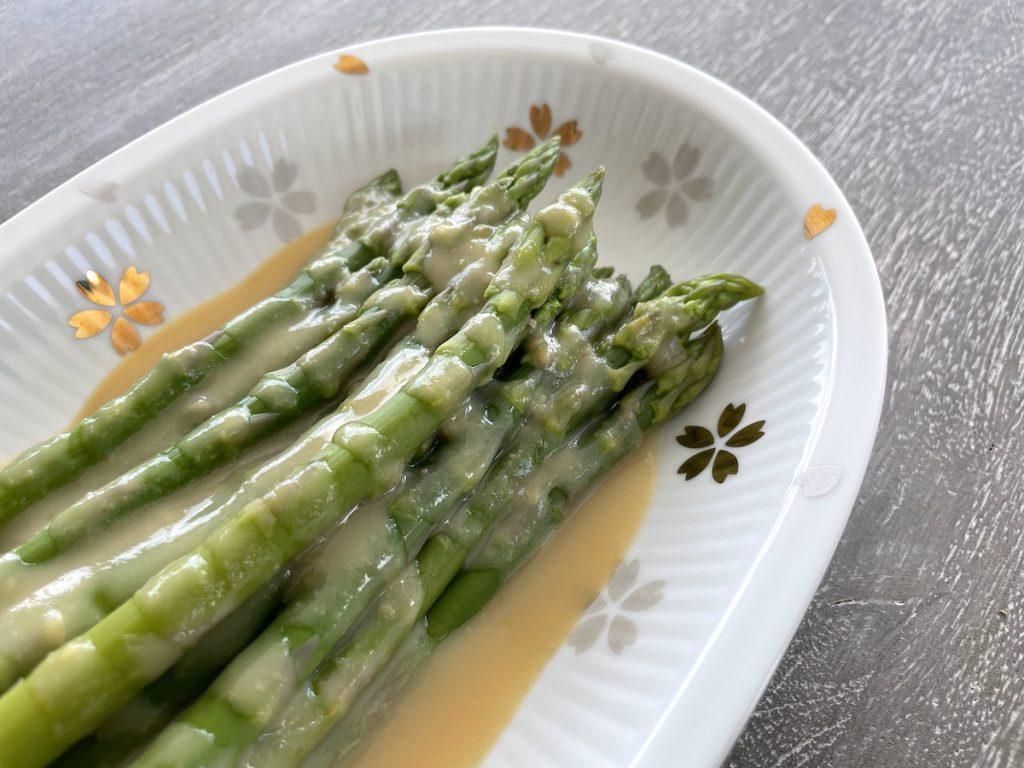 Miso Drizzled Asparagus